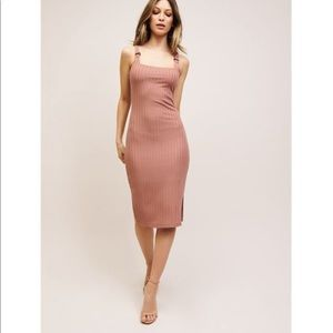 Dynamite ribbed pink dress-WORN ONCE